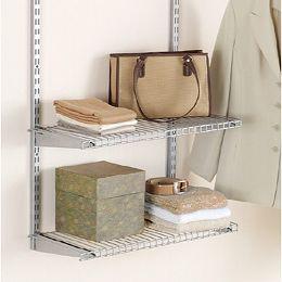 26-inch Shelf with Brackets in Satin Nickel (2-Pack)