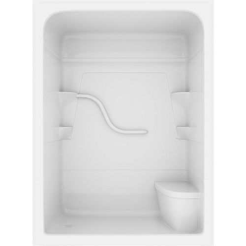 Madison 34.25-inch D x 60-inch W x 84.5-inch H 3-Piece Rectangle Acrylic Shower Stall in White