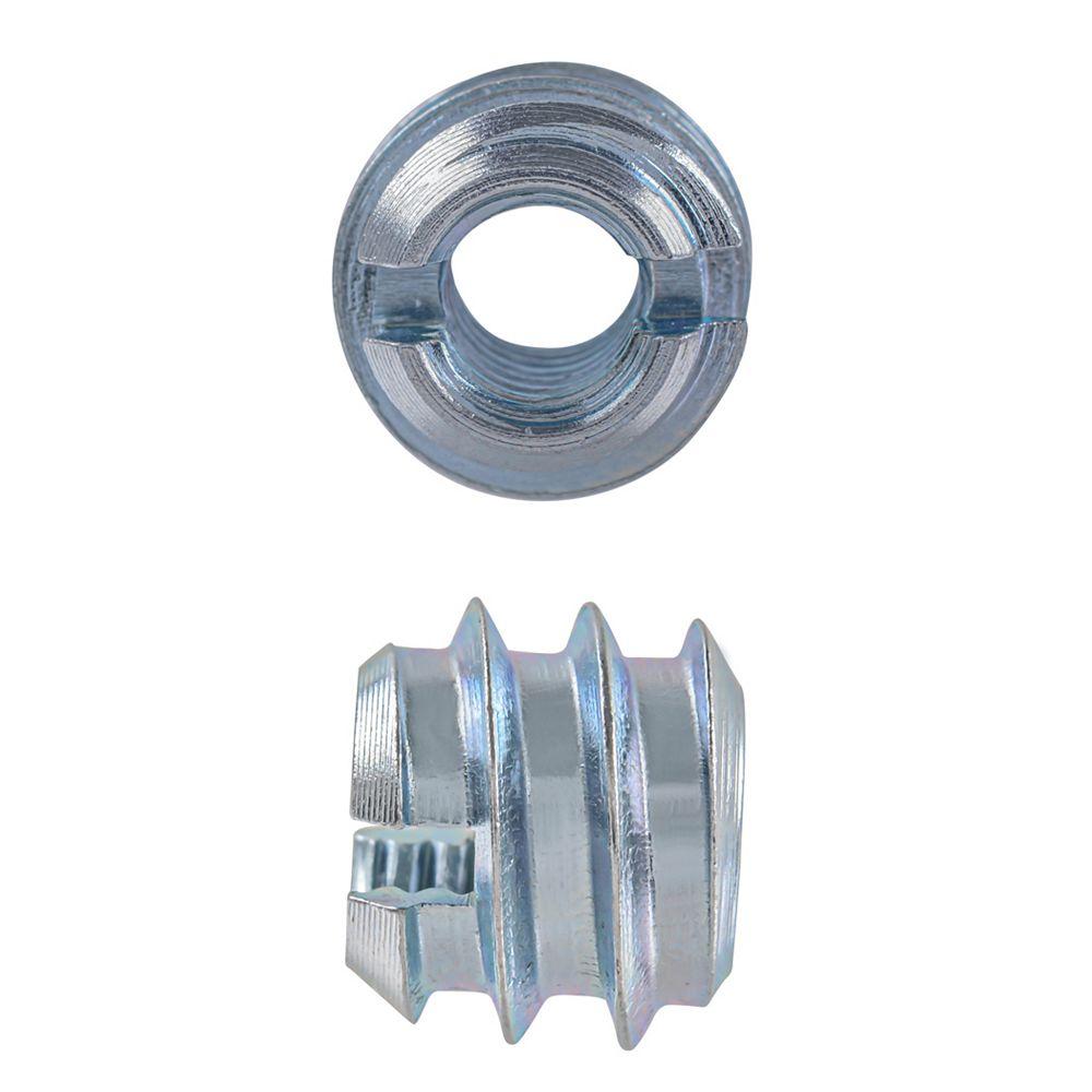 Paulin Inserts de couteau 1/4-20 x 10 mm plaqués zinc