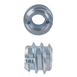 Inserts de couteau 1/4-20 x 10 mm plaqués zinc