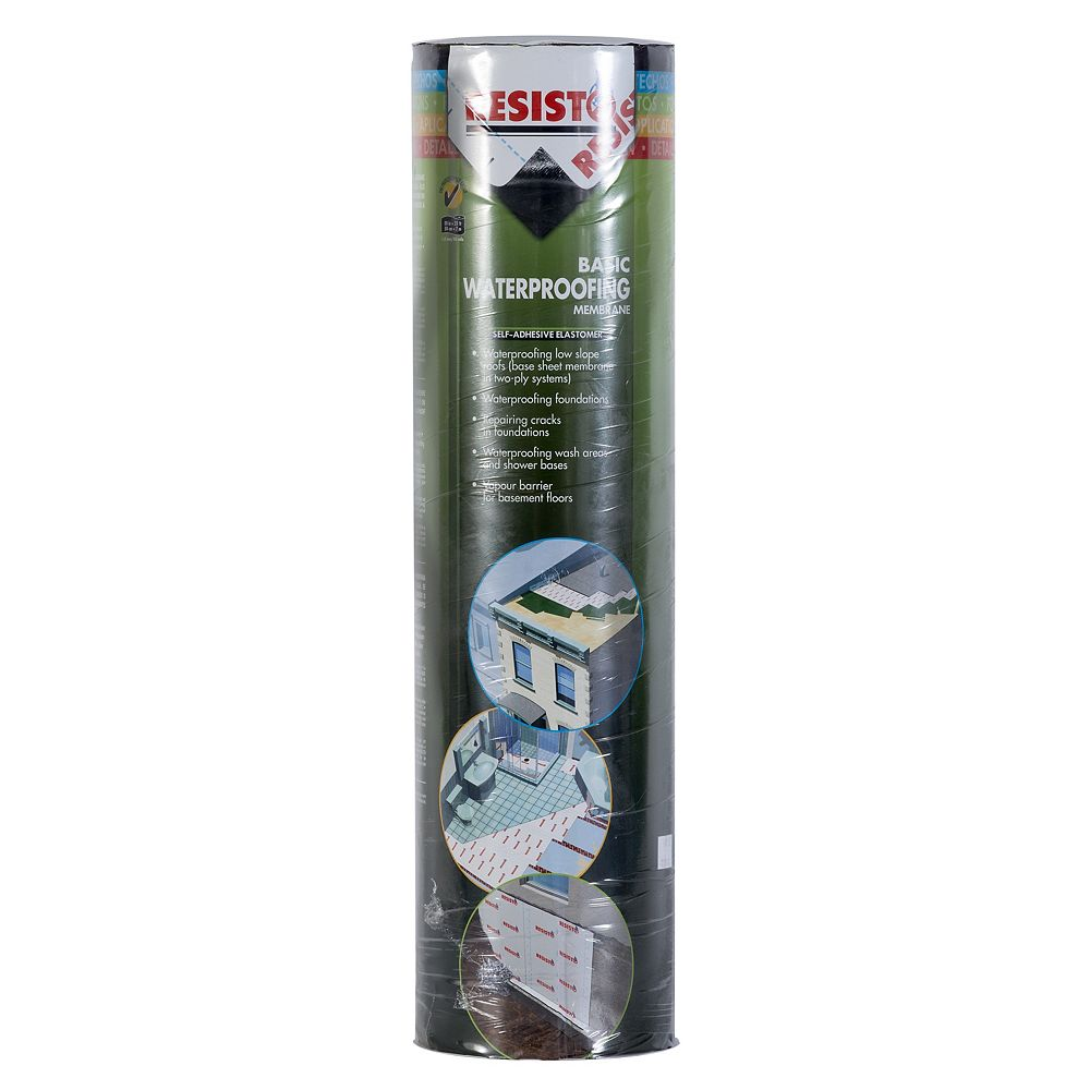 RESISTO Basic Waterproofing Membrane  20 inch X 23 ft. Base Sheet - Two-Ply System