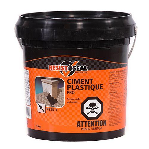 RESISTO Ciment plastique Pro RS35-4 pour surfaces sèches ou humides, 4 kgs