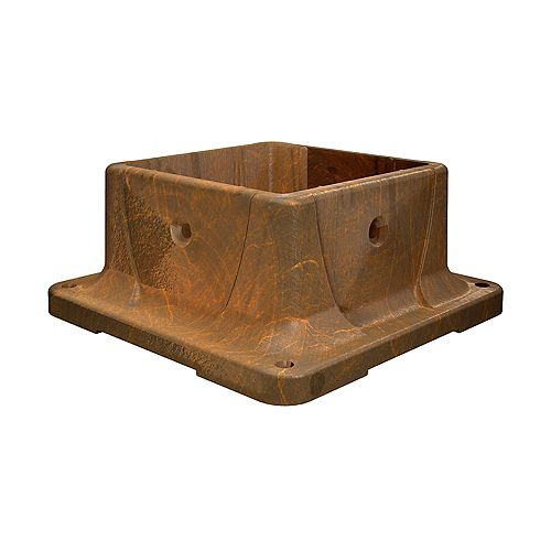 4-inch x 4-inch Composite Plastic Post Anchor in Redwood