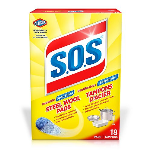S.O.S Steel Wool Soap Pads, 18 Count