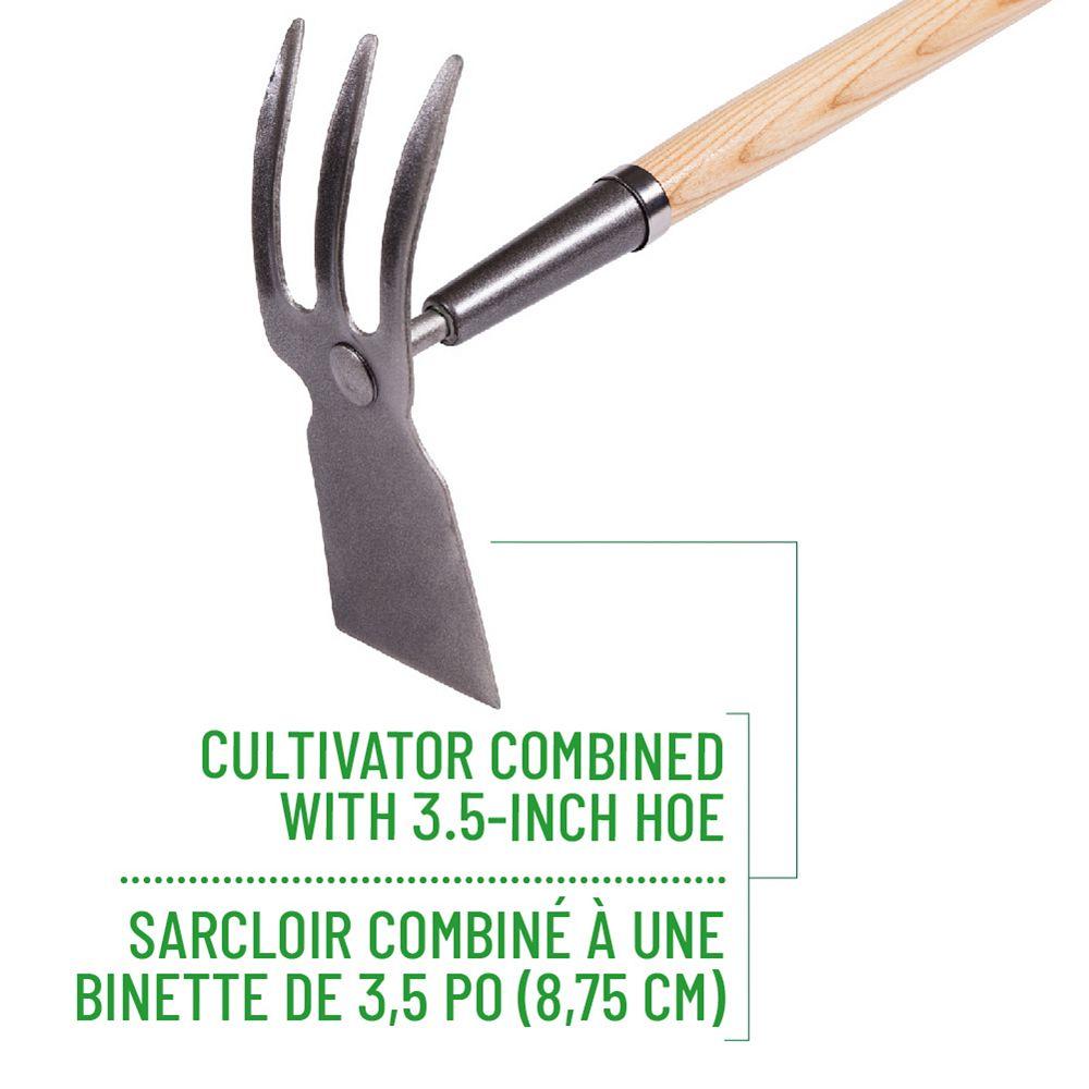 Garant Garden Care Cultivator/Hoe Combo, Hardwood Handle