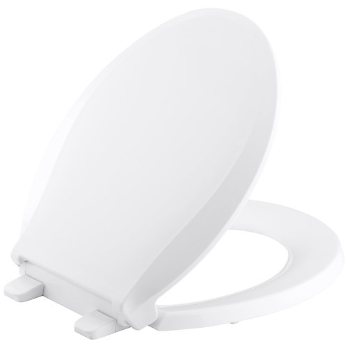 Cachet Quiet-Close Round Toilet Seat in White