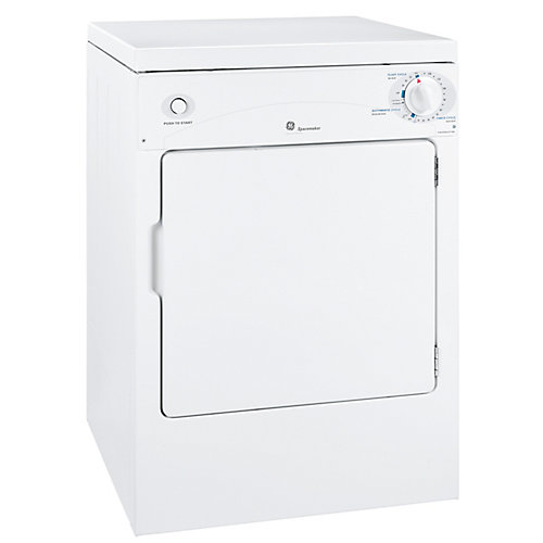 3.6 cu. ft. Front Load Electric Dryer in White