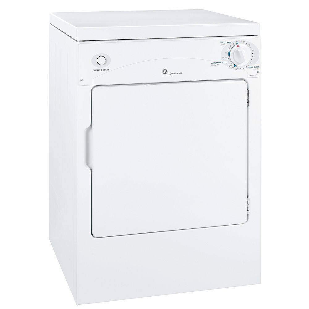 GE 3.6 cu. ft. Front Load Electric Dryer in White