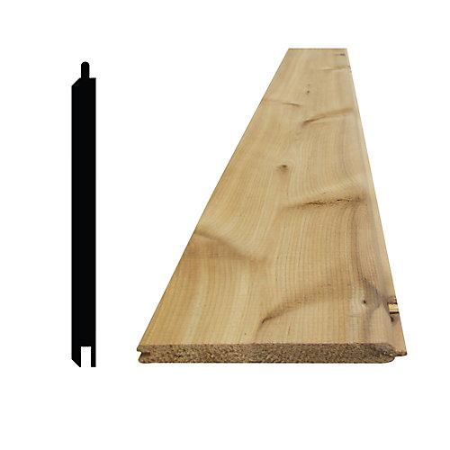 """Lambris cèdre noueux 8 pi v-joint avec rainure et languette - 5/16"""" x 4"""""""