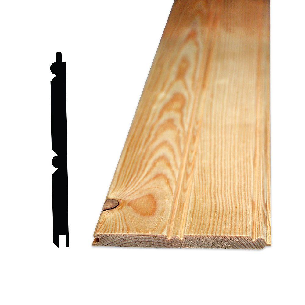 """Alexandria Moulding Demi-mur pin 32 po cannelé côté et centre - 5/16"""" x 4"""""""