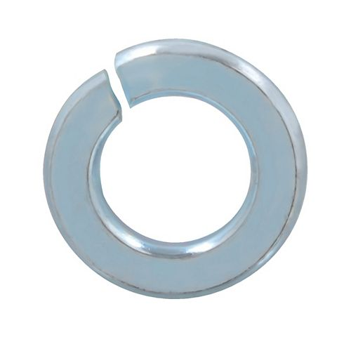 3/8-inch Steel-Regular Spring Lock Washers - Zinc Plated
