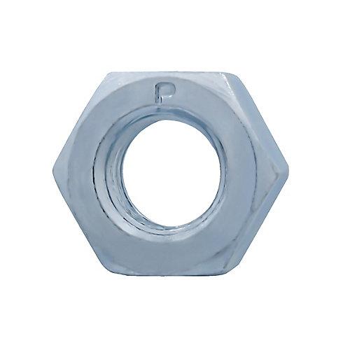 Écrou hexagonal fini 5/16 po - 18 po - zingué - qualité 2 - UNC