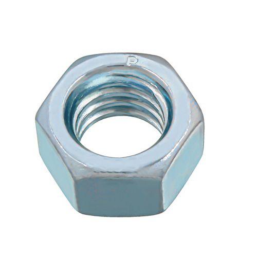 Écrou hexagonal fini 3/8-16 pouces - Plaqué zinc - Grade 2 - UNC