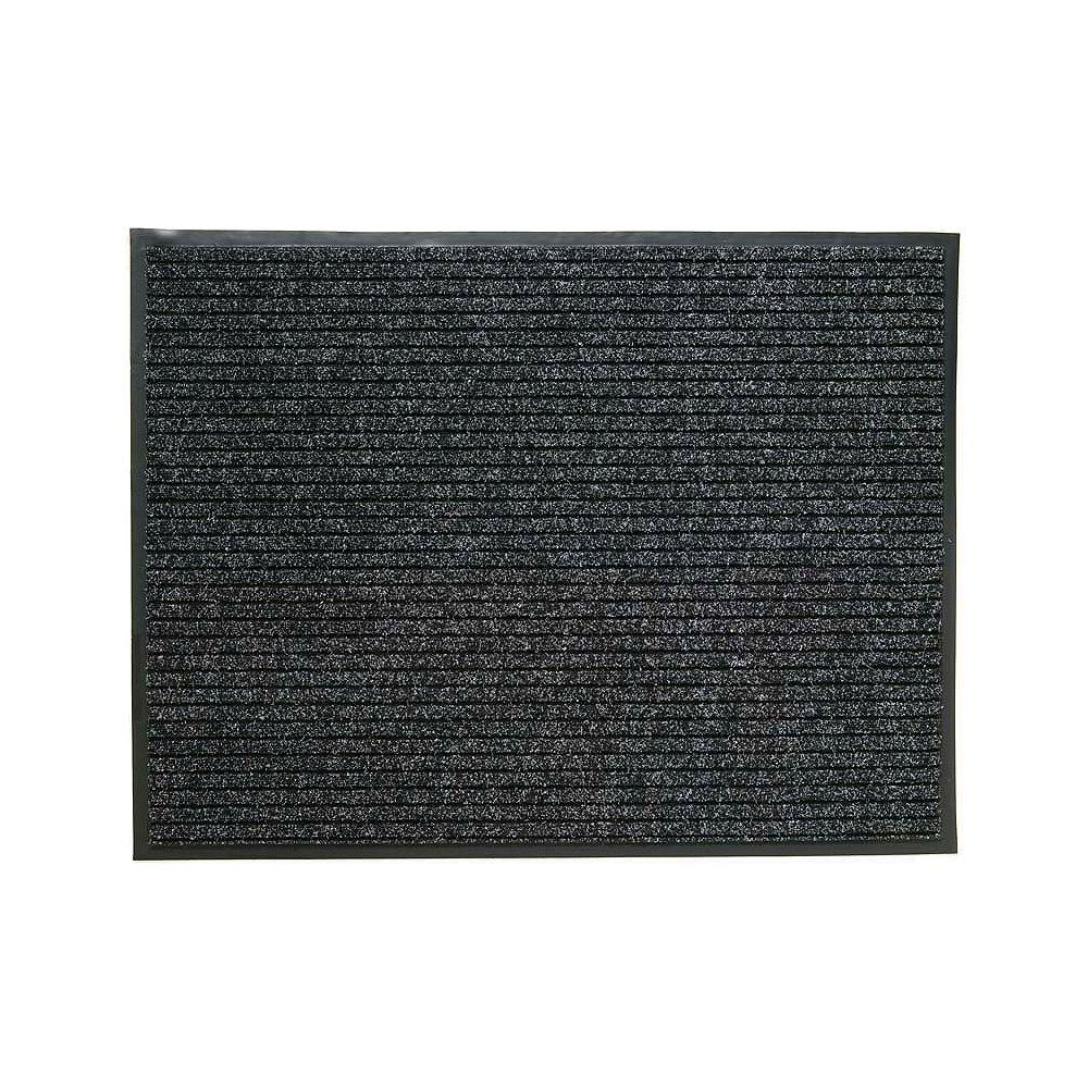 Multy Home Paillasson d'intérieur/extérieur, 3 pi 1 po x 4 pi, rectangulaire, gris Atlas