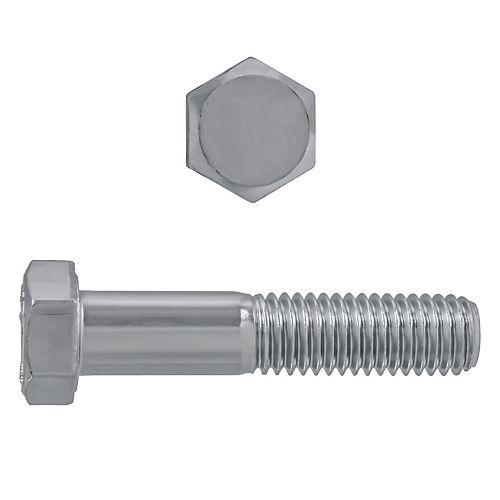 Vis à tête hexagonale 1/2 po-13 x 2-1/2 po en acier inoxydable 18.8 - UNC