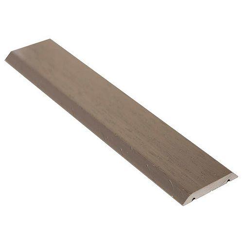 Seambinder Floor Moulding, Hammered Titanium - 1 Inch