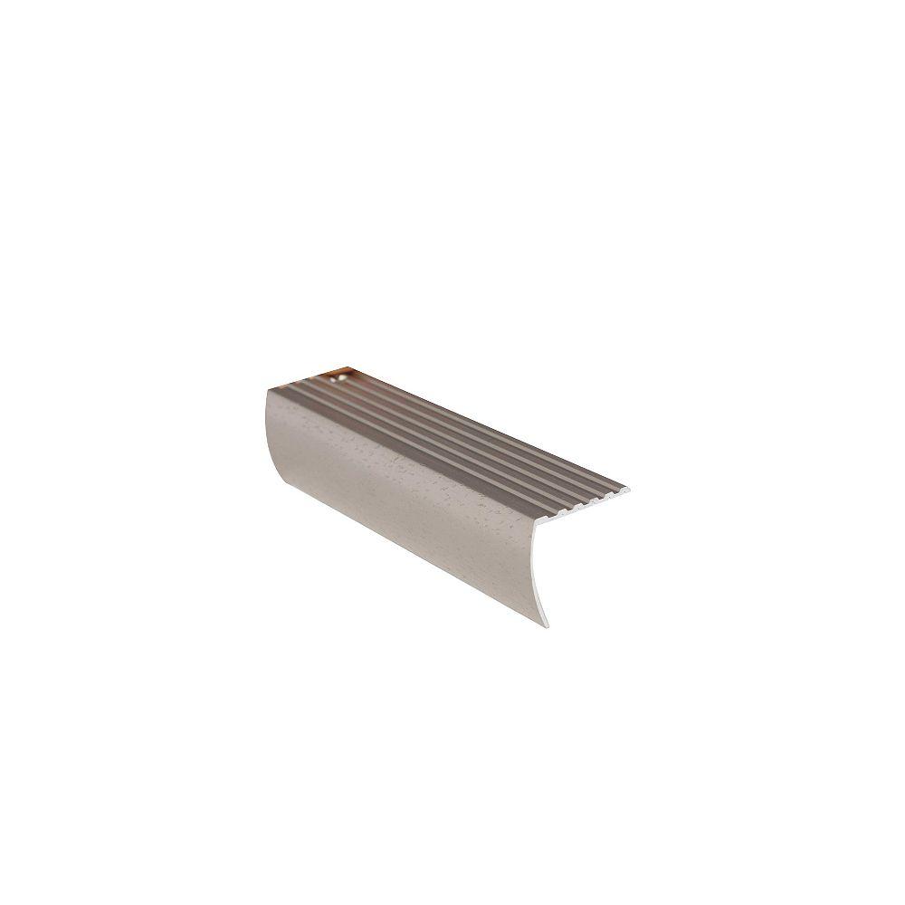 Shur Trim Stair Nosing Floor Moulding, Hammered Titanium - 1-1/8 Inch