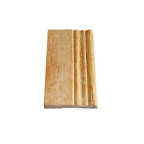 Solid Clear Pine Colonial Base 5/16 In. x 3-1/8 In.