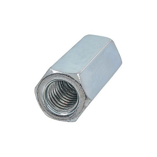 1/2-inch-13 Hex Coupling Nut-Fully Threaded - Zinc Plated - UNC
