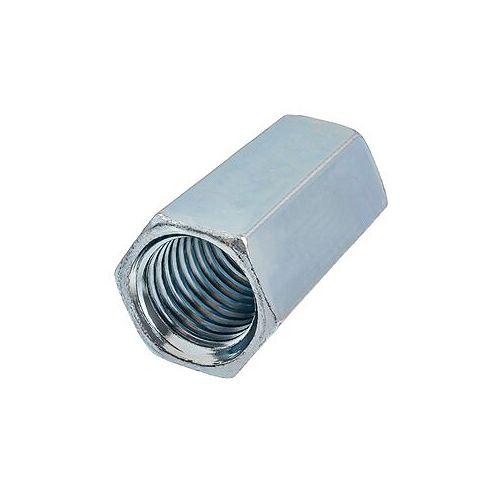 1-inch-8 Hex Coupling Nut-Fully Threaded - Zinc Plated - UNC