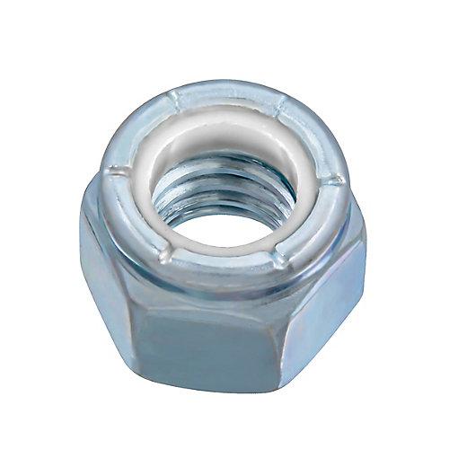 Écrou d'arrêt en nylon de 3/8 po-16 - Pozi-Lok - plaqué zinc - UNC