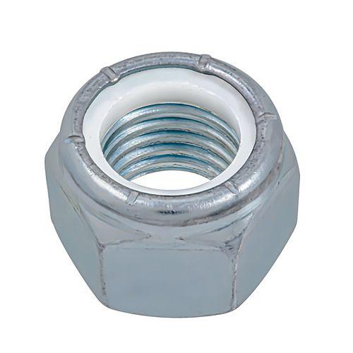 1-inch-8 Nylon Insert Stop Nut - Pozi-Lok - Zinc Plated - UNC