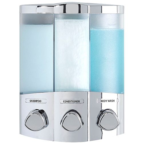 Euro Trio Dispenser Chrome
