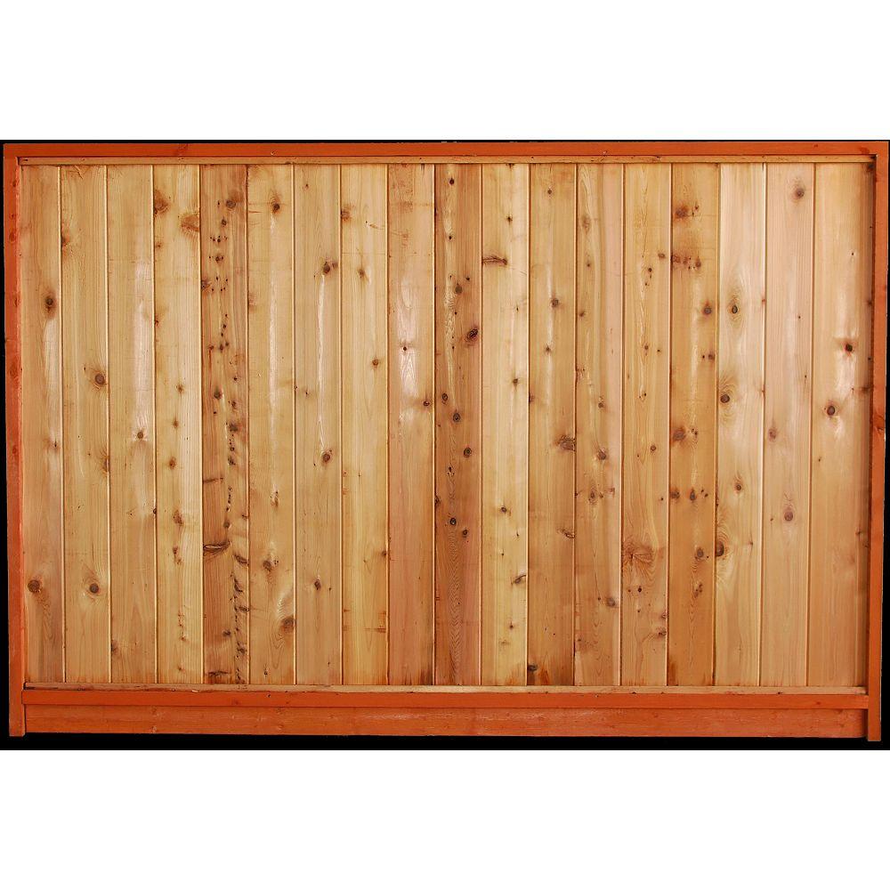 ProGuard 5 x 8 Panneau de clôture en cèdre massif