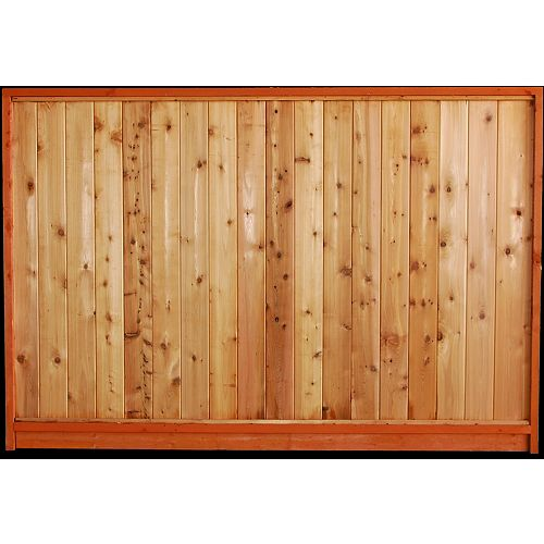 AIM Cedar Works 5x8 Premium Cedar Solid Fence Panel