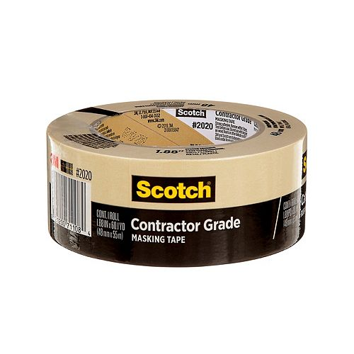 Contractor Grade Masking Tape, 2020-48MP, 1.88 in x 60.1 yd (48 mm x 55 m)