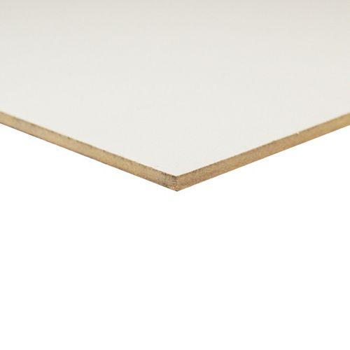 Panneau de fibres de bois à haute densité Blanc  _ 1/8 po x 24 po x 48 po