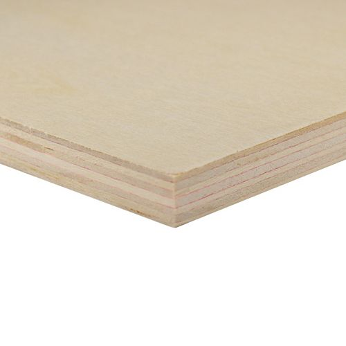 Alexandria Moulding 11mm x 24-inch x 48-inch G1S Poplar Handy Panel