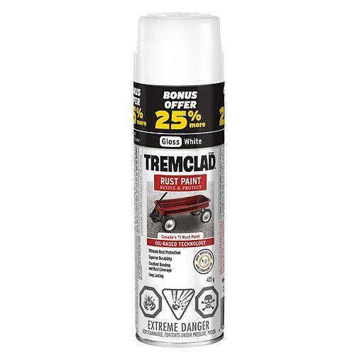 Oil-Based Rust Paint In Gloss White, 425 G Aerosol Spray Paint