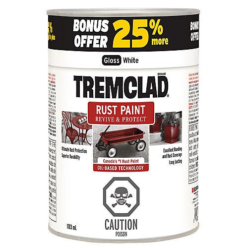 Tremclad Rust Paint 25%  Bonus 1183 ML - Gloss White