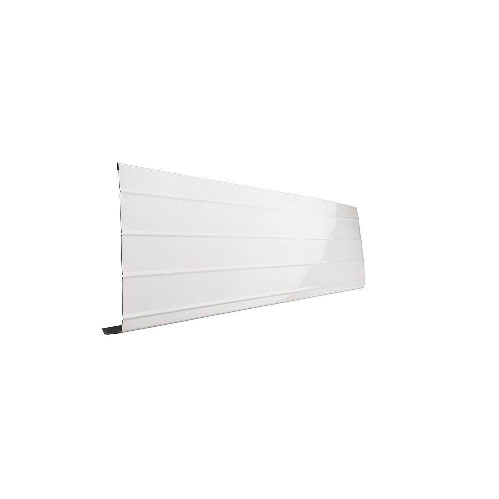 Peak Products 10 ft. L x 8-inch W x 1-inch H Aluminum Fascia Cover in White