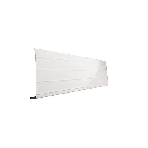 Bordure de fascia en aluminium, 10 pi x 8 po x 1 po - blanc