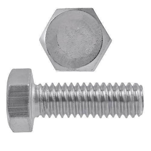 Vis à tête hexagonale 5/16 po-18 x 1 po en acier inoxydable 18,8 po - UNC