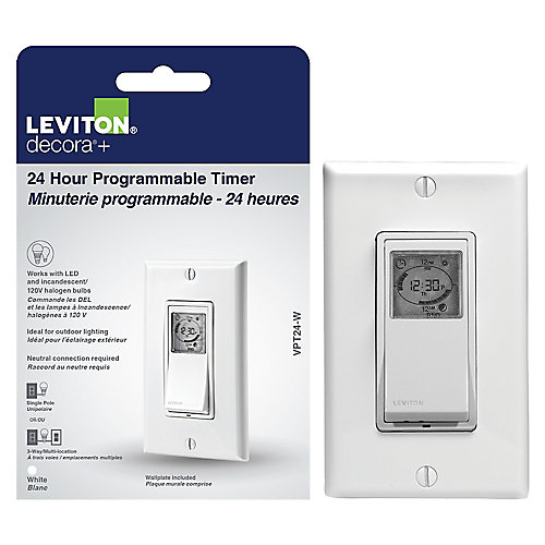 Decora Vizia 24-Hour Programmable Timer Light Switch in White