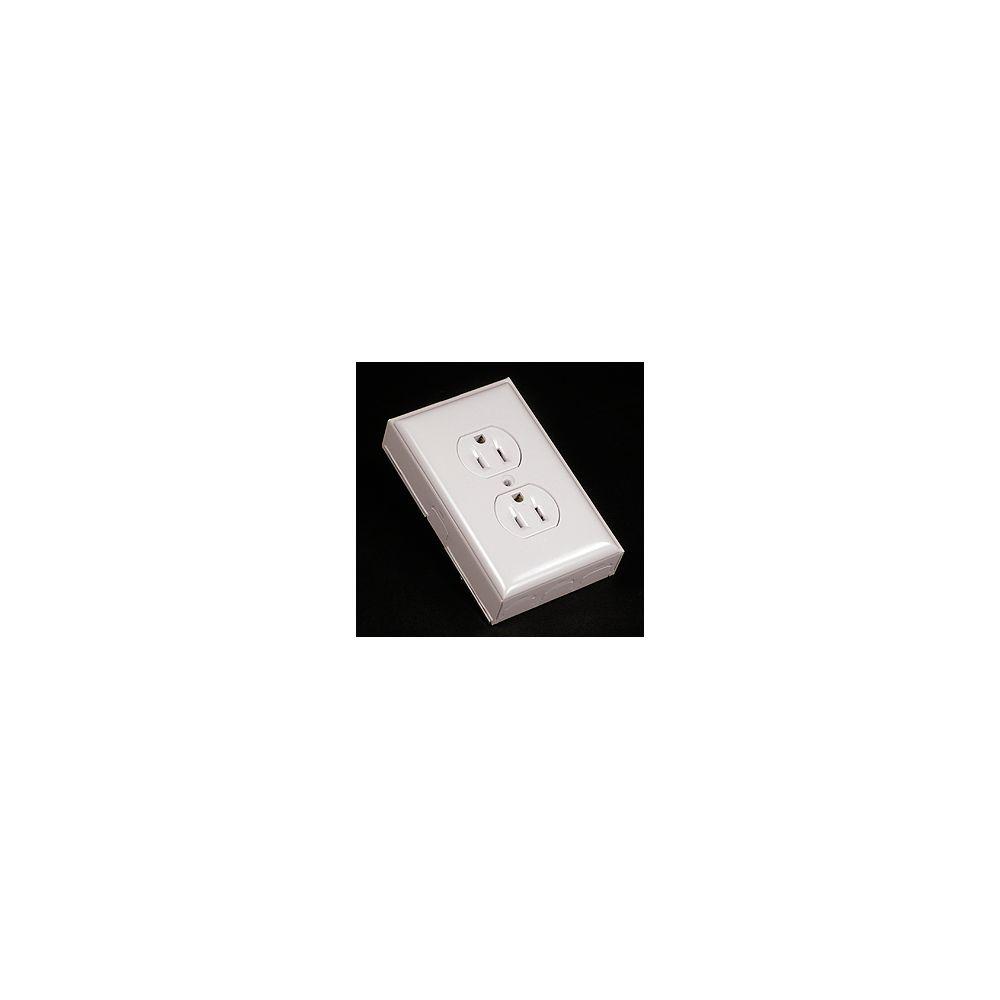 Legrand Wiremold Kit de prise de courant double/plaque/boîte blanc.