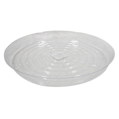 Soucoupe pour pots à fleurs, vinyle, 12 po, transparent