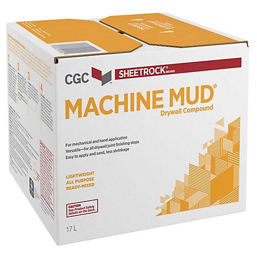 Composé pour cloisons sèches à base de boue de machine de la CCG, prêt à l'emploi, carton de 17 L