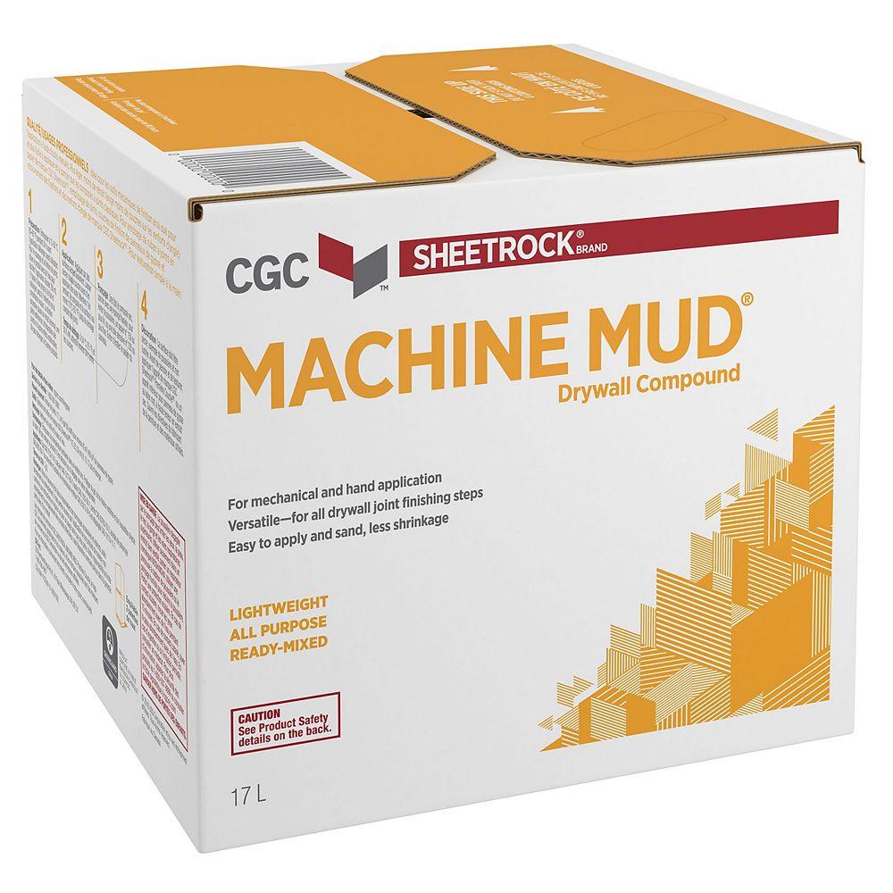 CGC Sheetrock Machine Mud Drywall Compound, Ready-Mixed, 17 L Carton