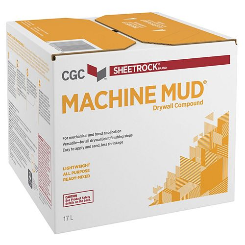 Machine Mud Drywall Compound, Ready-Mixed, 17 L Carton