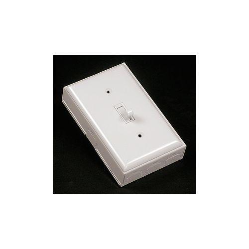 Legrand Wiremold Switch, Plate & Box Kit Metal  White