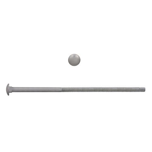 3/8-inch x 10-inch Carriage Bolt - Hot Dipped Galvanized - UNC