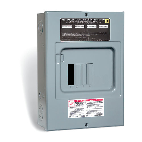 100 Amp Sub Panel Loadcentre with 4 spaces, 8 Circuits Maximum