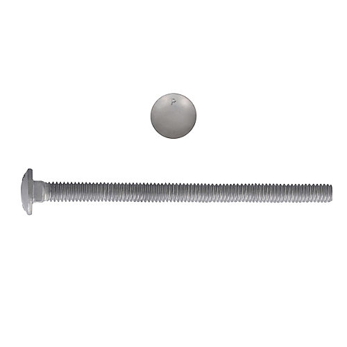 1/4-inch x 4-inch Carriage Bolt - Hot Dipped Galvanized - UNC