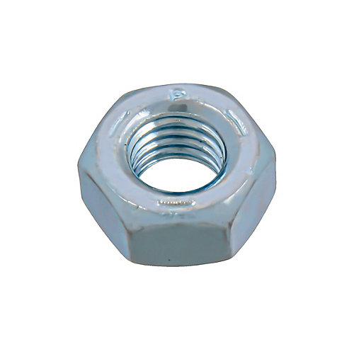 Écrou hexagonal 1/4 po-28 fini - zingué - grade 5 - UNF