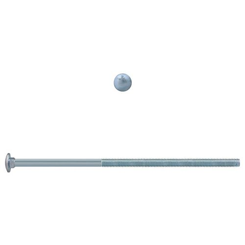 Paulin 3/8-inch x 10-inch Carriage Bolt - Zinc Plated - UNC