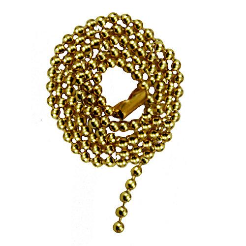"""Chaîne de laiton Perlée avec Connecteur - 36 """"(91.4 cm)"""